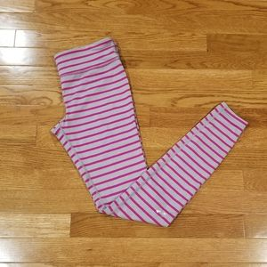 UA gray with pink stripes buttery soft leg…